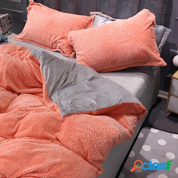 Ab side wheat cashmere thickening crystal velvet juegos de cama juegos de cama queen king size edredón