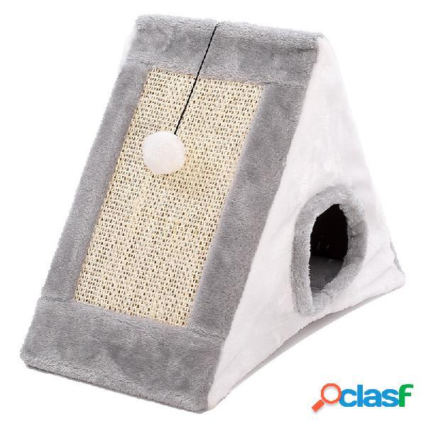 3 en 1 sanwich shape cat scratch board casa de la cueva kitten entertain cave kennel