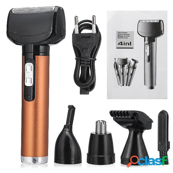4 en 1 hombres máquina de afeitar de la barba de la máquina de afeitar de las maquinillas de afeitar de la máquina de afeitar de la máquina de afeitar del pelo de la recortadora eléctrica de