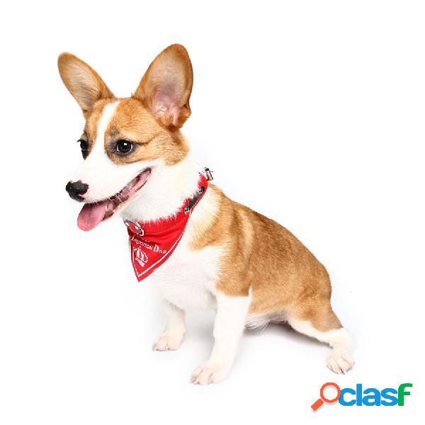 Yani hg-plj1 pet dog red imperial crown collares ajustables pet cool decorativoive towel pet drcoration