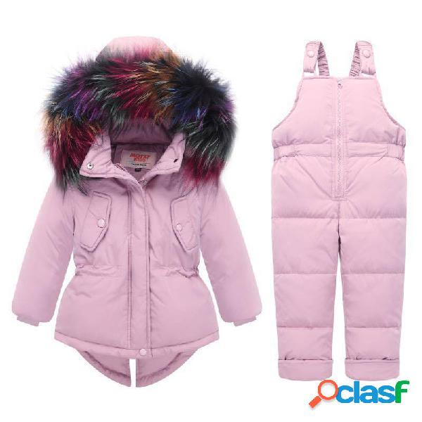 Conjunto de ropa de abrigo gruesa y unisex para bebés, ropa de abrigo para nieve, para 0-36 m
