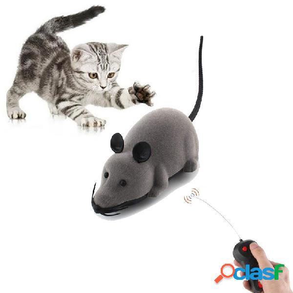 Juguetes creativos para mascotas control remoto electrónico mouse pet cat dog toy realista funny floating rat toy