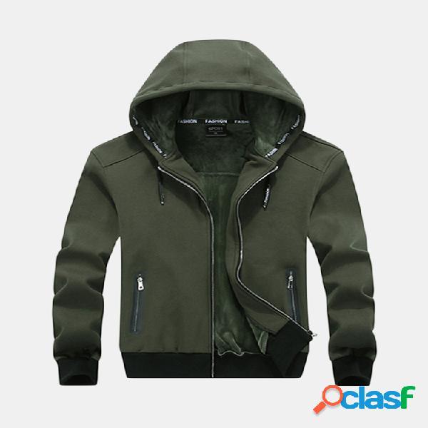 Tallas grandes m-6xl zip up chaqueta casual otoño invierno cálido y grueso sudaderas deportivas suaves