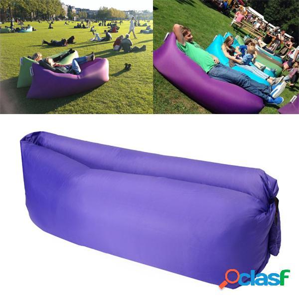 Playa de viaje sofá perezoso cama de dormir inflable de aire rápido