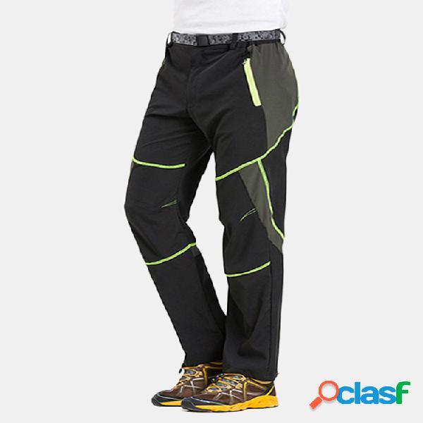 Mens summer thin al aire libre pantalón deportivo de secado rápido a prueba de rayos ultravioleta pantalón elástico transpirable