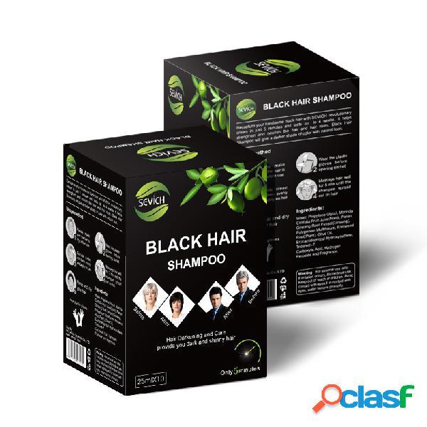 Negro cabello champú color duradero lavado fácil de color negro cabello tinte