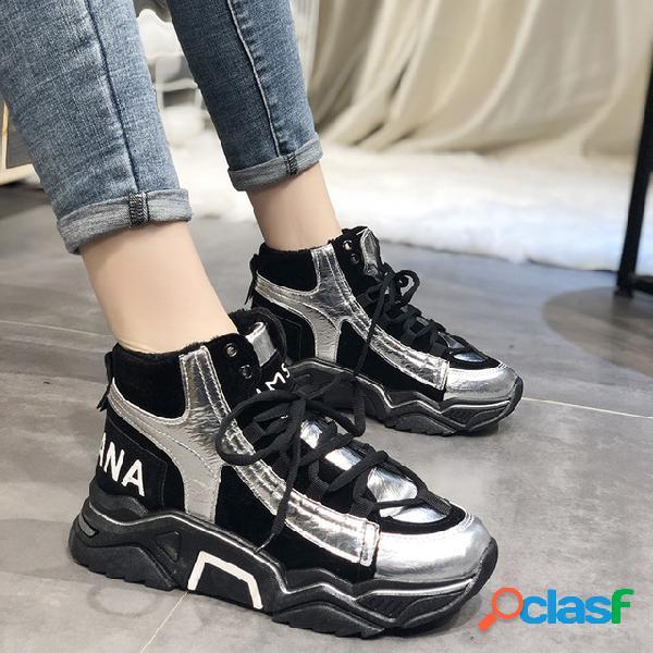 Zapatos antiguos de la estación europea mujer ins tide net red zapatos de mujer zapatos nuevos zapatillas de deporte con suela gruesa salvaje