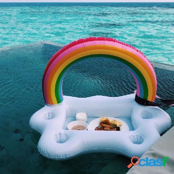 Playa picnic party inflable agua ice bar mesa taza ensalada placa piscina teléfono taza bebida soporte flotante mini playa fila flotante