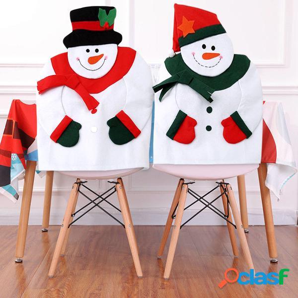 Cubierta de la silla del muñeco de nieve de la navidad cubierta de la silla del festival de la tela no tejida decorativa cubierta suave