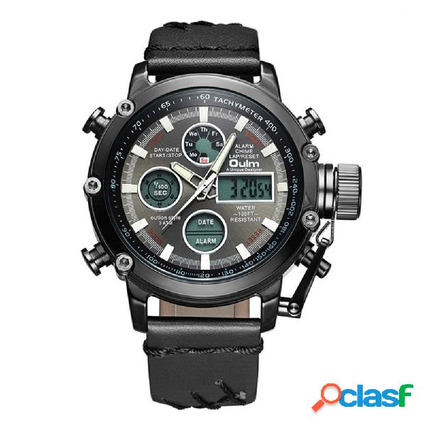 Reloj deportivo de cuarzo para hombre relojes con pantalla dual digital led reloj de pulsera impermeable para hombres