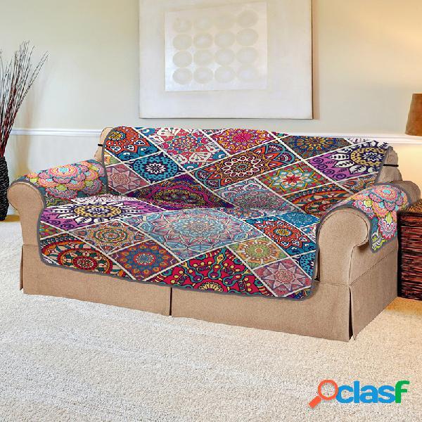 Funda de sofá para mascotas de impresión digital 3d cojín de sofá cuadrado para mascotas bohemian