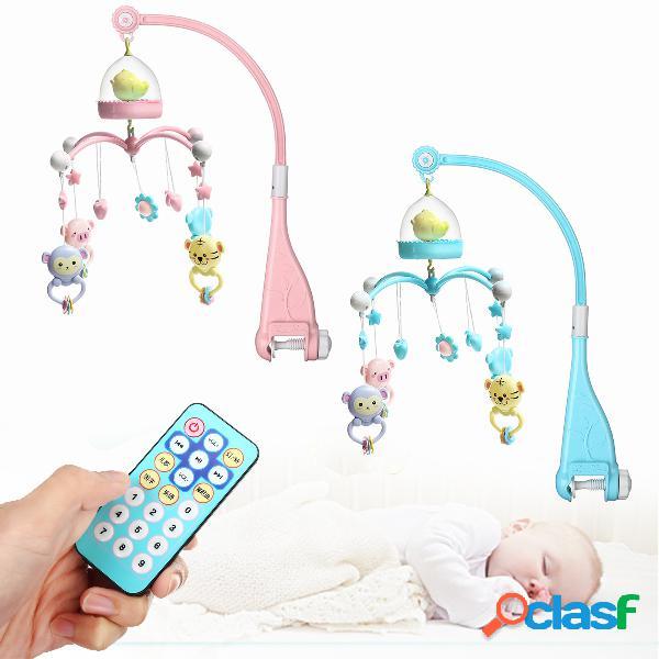 Cuna móvil cama móvil campana colgante titular música caja luz nocturna regalo de juguetes recién nacidos - azul