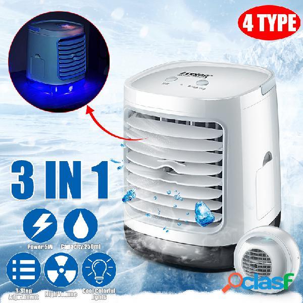 6w 4 tipos 3-en-1 portátil led aire acondicionado humidificador purificador refrigerador de aire personal ventilador de enfriamiento de aire