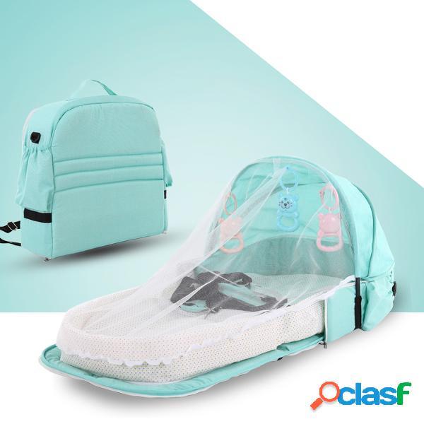 Cama de bebé portátil cama de aislamiento antimosquitos de viaje multifuncional cama plegable para bebé cama desmontable cama central