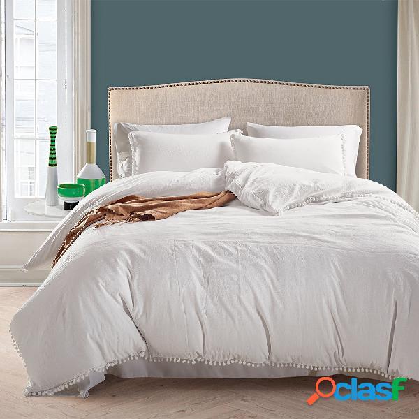 Juego de cama de lujo de estilo nórdico conciso twin queen king size edredón funda de almohada