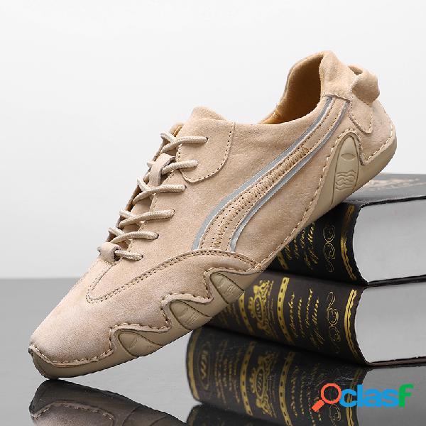 Zapatos de conducción casuales de cuero genuino antideslizante para hombre soft