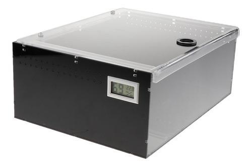 Acrílico reptiles terrarios caja de alimentación para tort