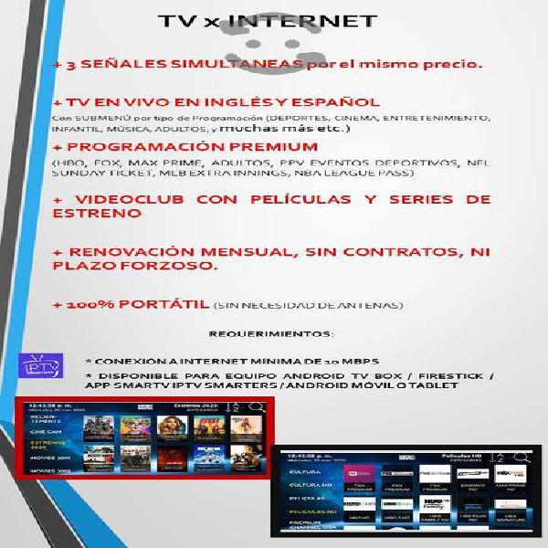 Activacion tv (3 equipos)