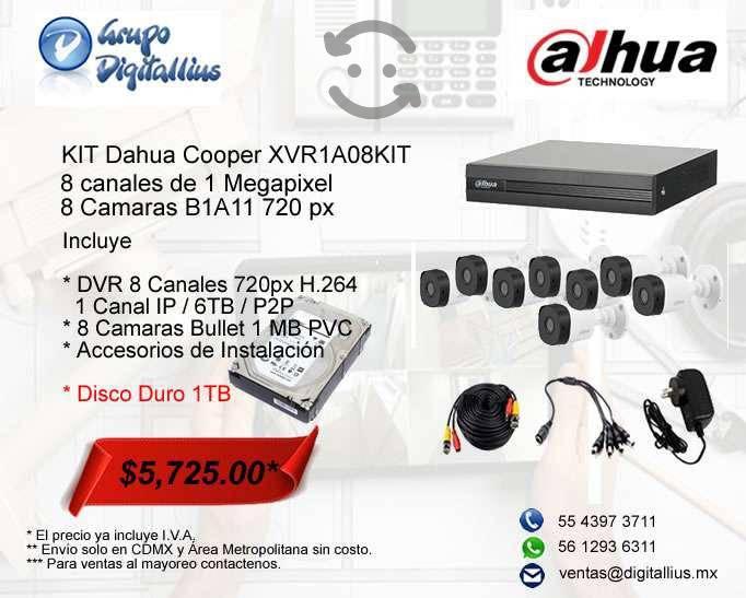 Dahua cooper xvr1a08kit kit 8 canales 1 mpx dd 1tb