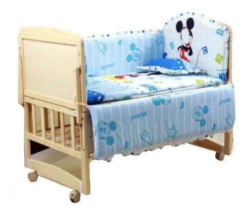 Lindo juego de cama parachoques cuna bebé dibujos animados