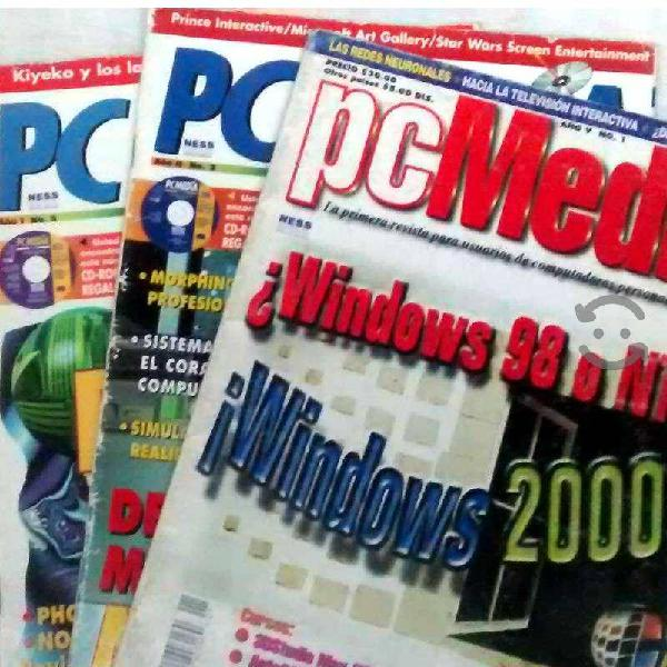 Lote revistas informativas sobre computación
