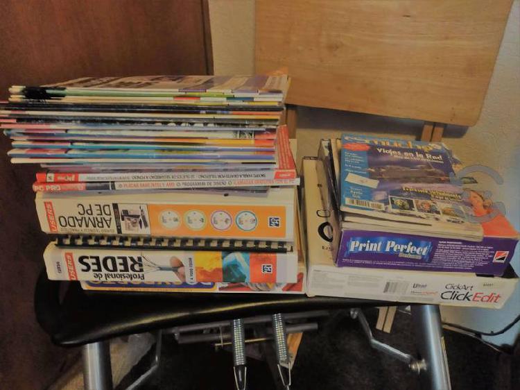 Lote de revistas, tutoriales y programas pc