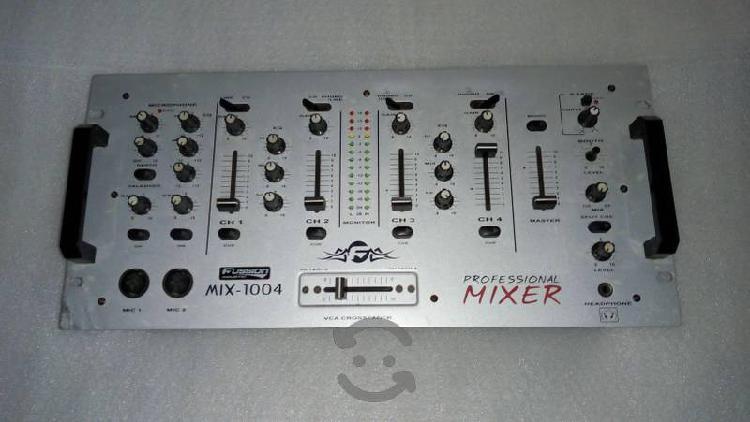 Mixer pro fussion mix-1004 pa dj 4ch lee detalles