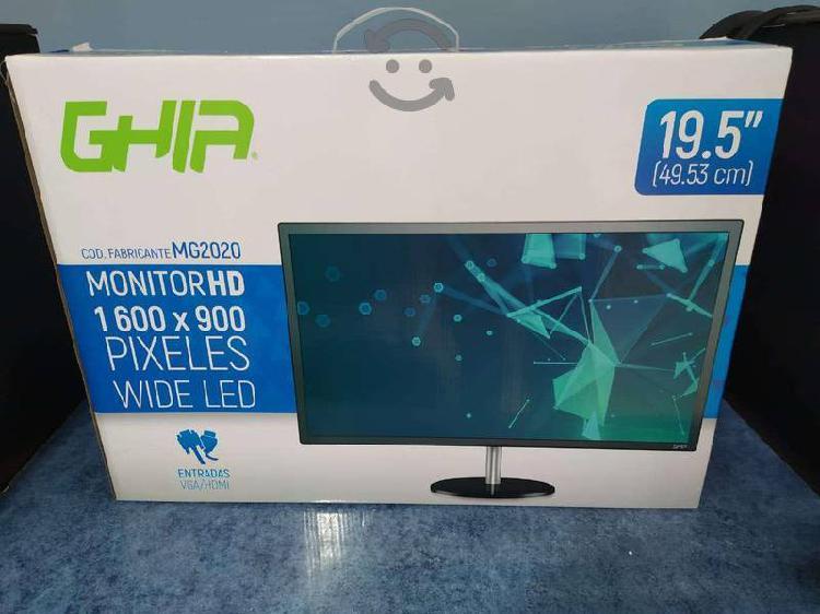 Monitor led 19.5 vga hdmi cámaras seguridad