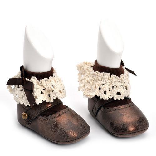 Par de bebé zapatos nuevo bebé niña infantil primero # 1
