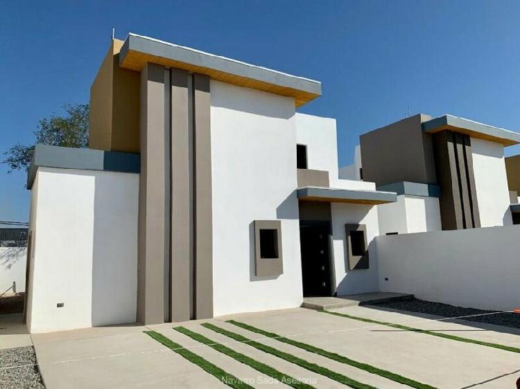 Preciosa casa nueva con recamara ppal en planta baja cerca