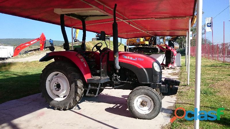 TRACTOR AGRÍCOLA 4X2, 75 HP NUEVO, MARCA YTO, MODELO X 750