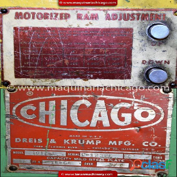 Prensa chicago 12' x 60 ton (cal. 14) en venta