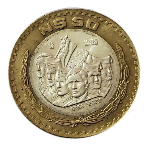 50 pesos mexicanos 1993 / 1994 niños heroes 50 nuevos pesos