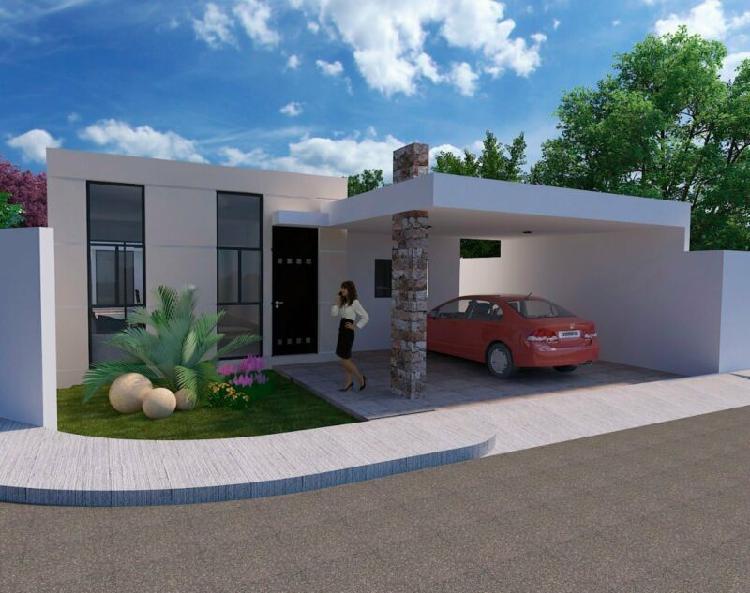 Casa residencial de 1 planta en venta en cholul al norte de
