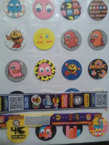Coleccion completa tazos pac-man - coleccion de 160 tazos