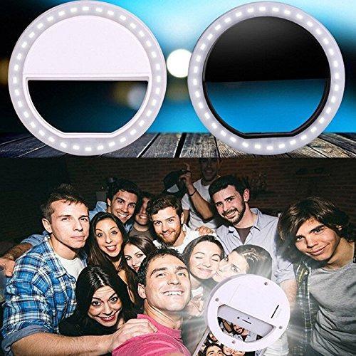 Lampara aro con luz led para celular con clip y/o selfie (n