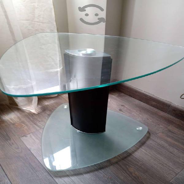 Mesa vidrio (templado) triangular
