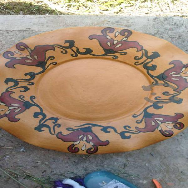 Platos decorativos de barro de 40 cm de diametro