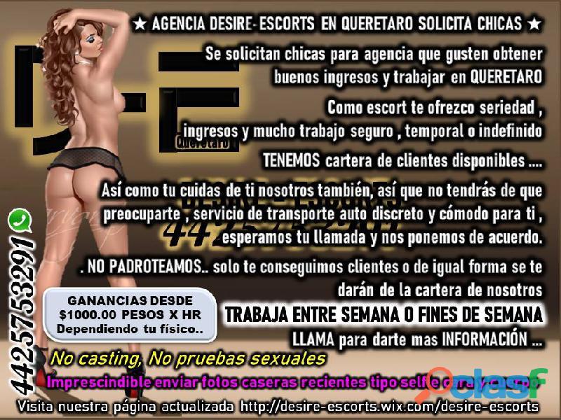 DESIRE ESCORTS Busca Personal Femenino   EN QUERÉTARO LLÁMANOS