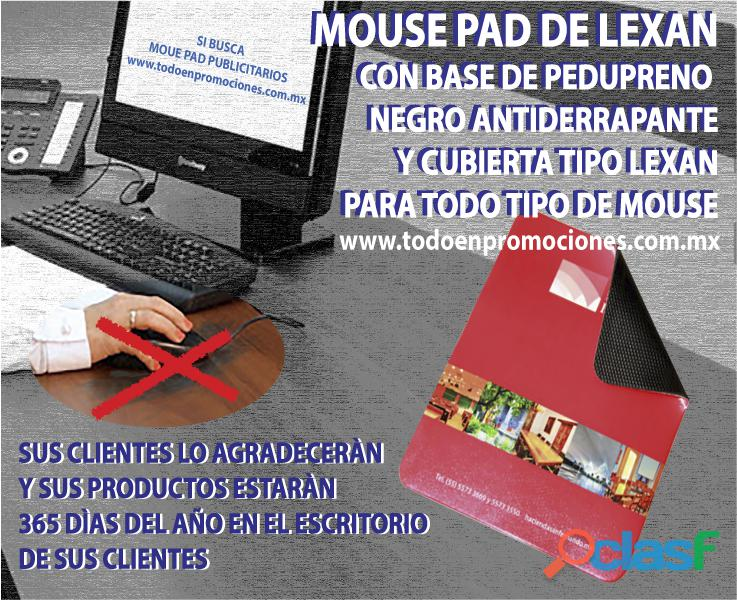 Mouse pad publicitarios de lexan