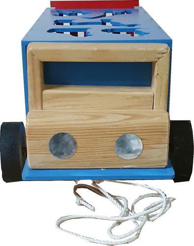 Camion zoológico de madera - material didactico