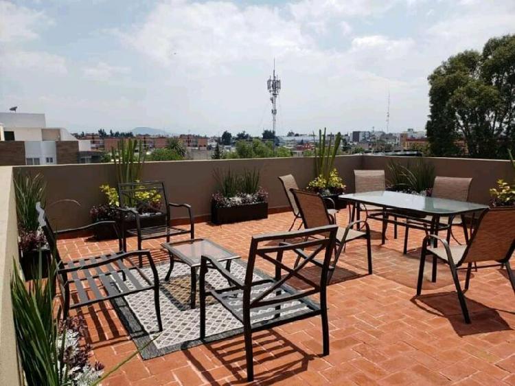 Departamento roof garden calle 4 pantitlán