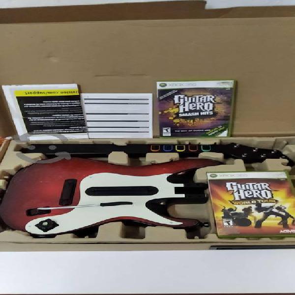 Guitarra guitar hero mas 2 juegos xbox 360 al 100%