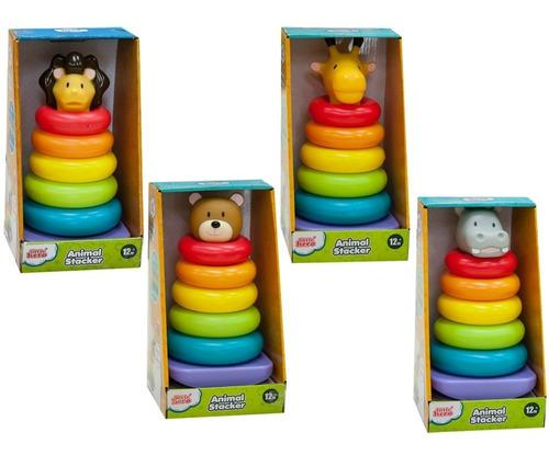 Juego juguete animales apilables aros little hero 3033 1 pza