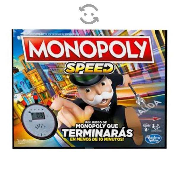 Juego de mesa hasbro monopoly speed nuevo sellado