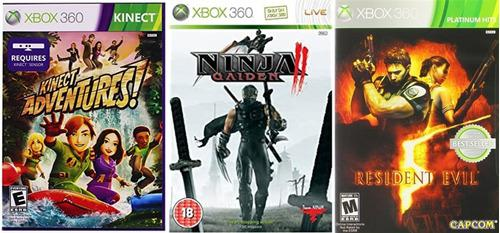 Juegos xbox 360 ninja galden resident evil kinet adventures
