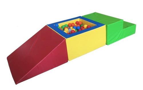 Kit de estimulación temprana   cubo con pelotas   3 piezas