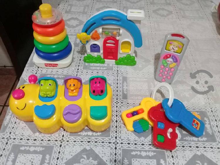 Lote de juguetes interactivos fisher price