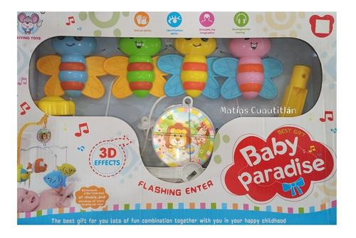 Movil para cuna carrusel bebe cuerda musical con base