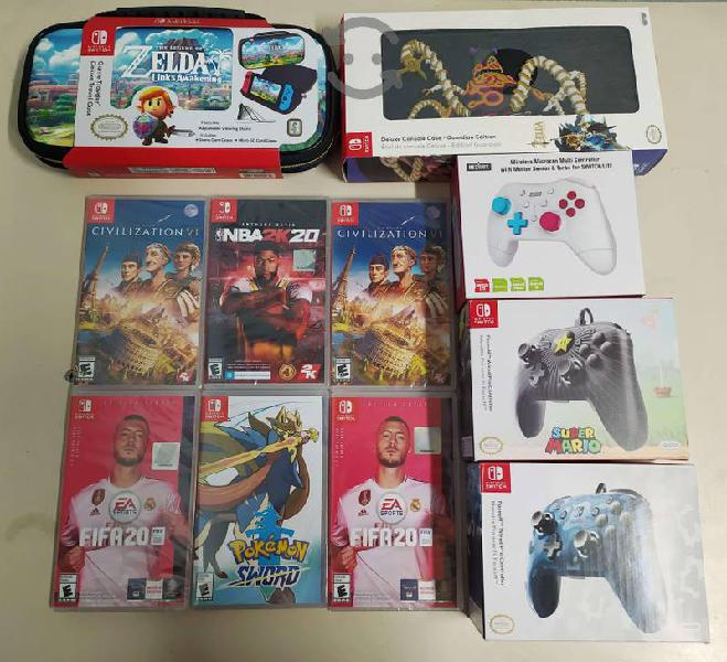 Nintendo switch juegos accesorio nuevos desde $350